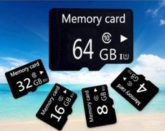 MicroSD SD TF Flash Memory Card 32G 64GB Multi For phones Cameras black Micron SC 32gb tf cards