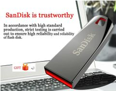 SanDisk USB flash disk hard disk drive crystal flashdisk CZ71 32G64G pendrive Memory cards phones silver Sandisk 64gb
