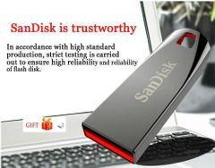 SanDisk USB flash disk hard disk drive crystal flashdisk CZ71 32G64G pendrive Memory cards phones silver Sandisk 32gb