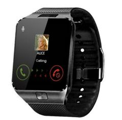 JC Wearable Smartwatches DZ09 Camera SIM/TF Bluetooth Smart Watch Multifunction Digital WristWatch black- average size