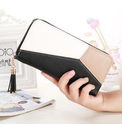 JC New women wallets ladies handbags women long paragraph leather wallets Purse for girls women black 20cm*10cm*2.5cm