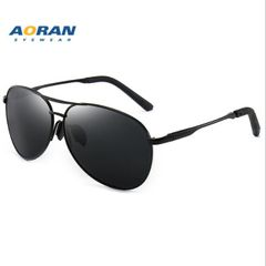 Aviation Quality Alloy Men Sunglasses men women Sunglasses Pilot Golden Frame Men Fashion black- one size