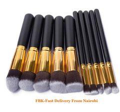 JC women extr large 10pcs Makeups bag kit Brushes Powder/EyeShadow Makeup brushes kit set Beauty Set black