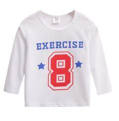 JC Baby Boys Clothes kids Tee Shirt Cartoon Short Sleeve T-Shirts Tops Kids dress wear Clothes Number 8 120cm cotton