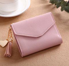 JC Short women wallets women multi-layer wallets lady purse and handbags PU handbag for women Pink ordinary