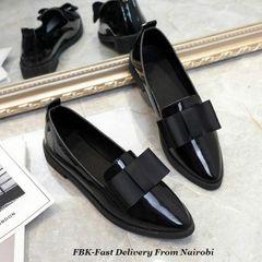 JC ladies flat women shoes patent leather shoes low heel women office casual shoes pumps for ladies black' 38