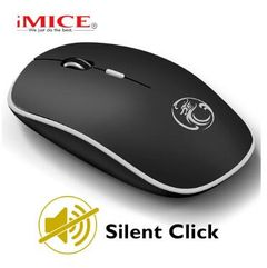 JC Wireless Mouse Computer Mouse Ergonomic Silent Mice Mini PC Mouse 2.4GHz USB Optical For Laptop Black Middle