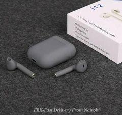 JC i12 TWS Wireless Earphones Bluetooth Earphones Wireless Touch Key for smart phones grey