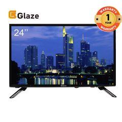 GLAZE 24 Inch Television Digital LED TV black 24''