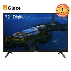 GLAZE 32 Inch Television Digital TV black 32''