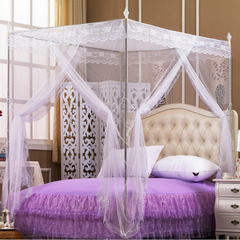 Mosquito Net Bedding sets & accessories With Straight Metallic Stands White 4*6