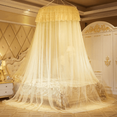 Round Mosquito Net Bedding sets & accessories Free Size For Double Decker And All Types Of Beds Cream Free size