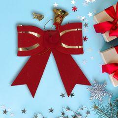 1pcs Big red bow tie  Christmas decoration Event Party Supplies random 18*16CM