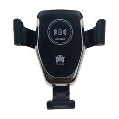Wireless car mount charger overchager highspeed secuer Black