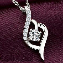 2020 new The love necklace Angel soft Diamond Pendant fashion versatile Valentine's Day gift c1 one size
