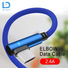 LD Tech Data Cables Type c Mobile Phones Charging Cable Micro USB Cable For iPhone Samsung Huawei blue for iphone