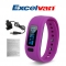 Excelvan Smart Bracelet Bluetooth V4.0 Wristband Purple One Size