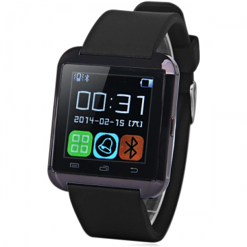 U8 Bluetooth Smartwatch Passometer Touch Screen Answer and Dial the Phone Black One Size