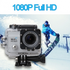 12MP 2.0 inch 170° HD Lens WIFI Suport 32GB Max HD DV Night Vision Sport Camera  EU PLUG Silver One Size