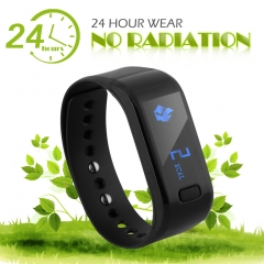 Excelvan Smart Bracelet Waterproof Bluetooth Wristband Black One Size