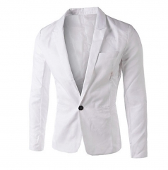 Men Slim Fit Business Casual Premium Blazer Jackets White XL