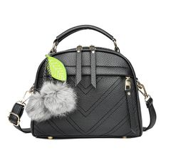 big discount only for christmas sale handbag simple fashion shoulder bag slung small bag tassel black as the picture
