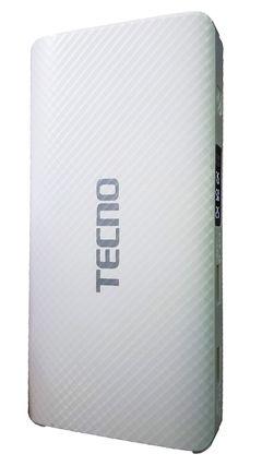 Tecno  30000mAh 2-Ports Secure PowerBank With Flashlight - WHITE white 30000mah