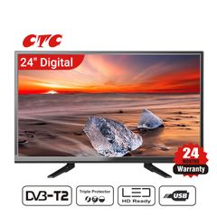(Special Offer)CTC 24 Inch Digital  TV LED HD Television with 24 Months Warranty black 24''