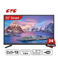 (Special Offer)CTC 32 Inch Smart TV LED HD Television with 24 Months Warranty black 32''