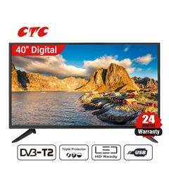 (Special Offer)CTC 40 Inch Digital TV LED HD Television with 24 Months Warranty black 40''