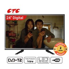 (Special Offer for Queen's day)CTC 24 Inch Digital  TV LED HD Television with 24 Months Warranty black 24''
