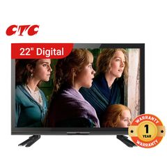 (New Arrival) CTC 22 Inch Digital TV HD Television with 12 Months Warranty black 22''