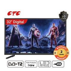 ((Special Offer for Queen's day)CTC 32 Inch Digital  TV LED HD Television with 24 Months Warranty black 32''