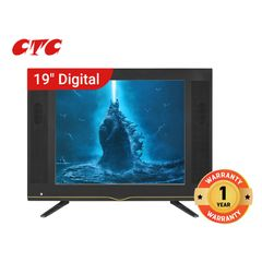 (New Arrival) CTC 19 Inch Digital TV HD Television with 12 Months Warranty black 19''