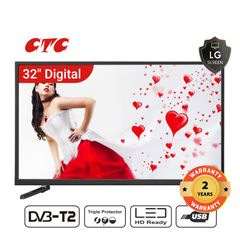 (Special Offer)CTC 32 Inch Digital  TV LED HD Television with 24 Months Warranty black 32''