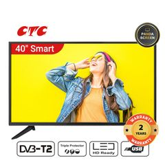 (Special Offer)CTC 40 Inch Smart TV LED HD Television with 24 Months Warranty black 40''