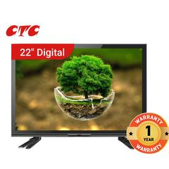 CTC 22 Inch Digital TV Full HD Television with 12 Months Warranty black 22''