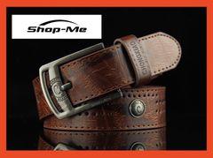 Men's Buckle Belt Leather Cowhide Belt Belts Men Luxury Strap Classic Style 3 Different Colors Coffee 110