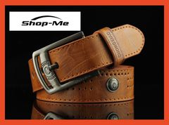 Men's Buckle Belt Leather Cowhide Belt Belts Men Luxury Strap Classic Style 3 Different Colors Brown 110
