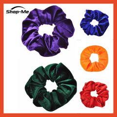 5 PCS Women's Velvet Elastic Hair Rubber 5 Different Colors 5 SET For The Best Price 5 PCS One Size