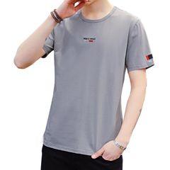 Clothes Men's Clothes T-shirts  Polos Men's Short Sleeve T-shirt Youth T-shirt Short Sleeve Clothes gray M Polyester + Cotton