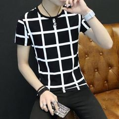 T-shirts Men's Clothes Mens Polos Youth Short Sleeve Men's Loose Short Sleeve Clothes T-shirts black xl polyester + cotton