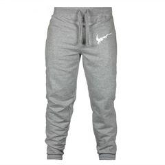 Trousers Men's Trousers Pants Men's Printed Fitness Pants Men's Casual Street Outdoor Pant gray l