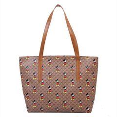 Women's Bags Ladies Bags Mickey Shoulder Bag Large Capacity Portable Bucket Bag Shopping Bag Khaki one size