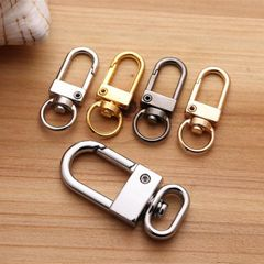 Keychains Rotating Dog Buckle Zinc Alloy Jewelry Hanging Buckle Hook Buckle Door Buckle Keychain Gold one size