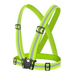 Elastic Straps Night Running Reflective Blets Protective Reflective Vest Safety Vest Fit for Running Green