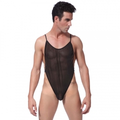 Perspective underwear sexy Lingerie for men upscale SM Games Clothing Coverall 5  Pieces one size