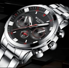 WLISTH Watch Luminous Waterproof  High Quality Quartz Wrist Watches For Men biack one size fit all