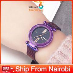SMTTTO 1*Watch Classic Luxury Women Watches Minimalism Starry Sky Magnet Buckle Female Wristwatches purple one size