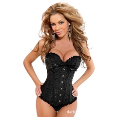 Women Body Shaper tight Vintage Corset Waist Cincher Breast Lifter 5-6XL